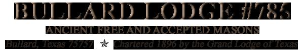 Bullard Masonic Lodge 75757